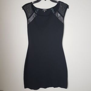 Express studded black mini dress